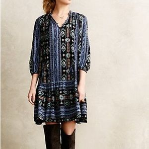 Anthropologie Holding Horses Winter Moon Tunic